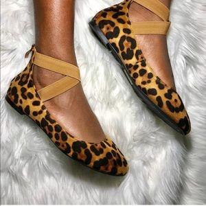 Shoes - 5⭐️LEAPORD CRISS CROSS ANKLE strap ballet flat